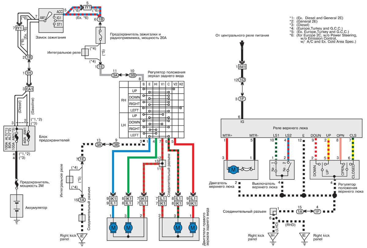 toyota corolla 2e 1991 электрическая схема