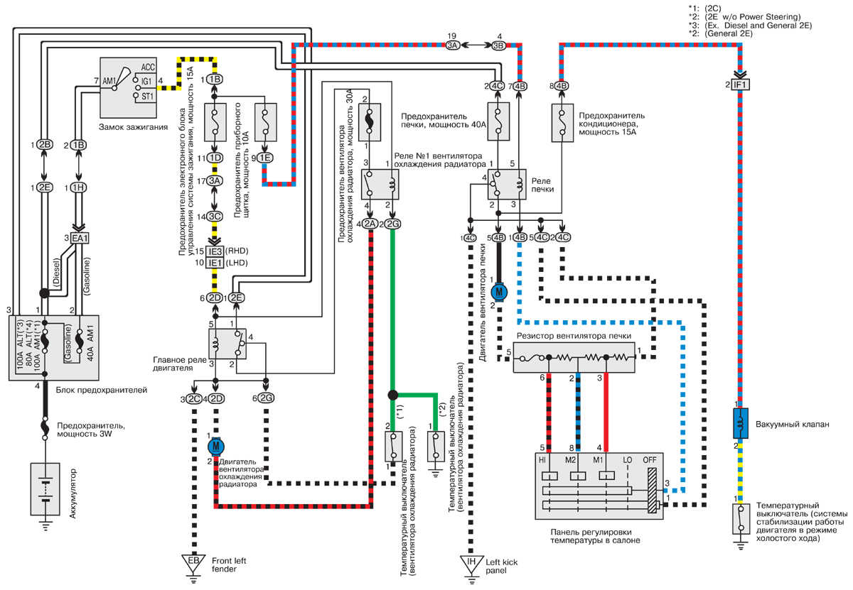 Тойота королла (toyota corolla) электросхемы системы зажигания и.
