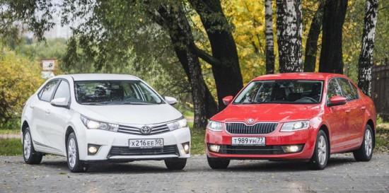 Toyota Corolla и Skoda Octavia