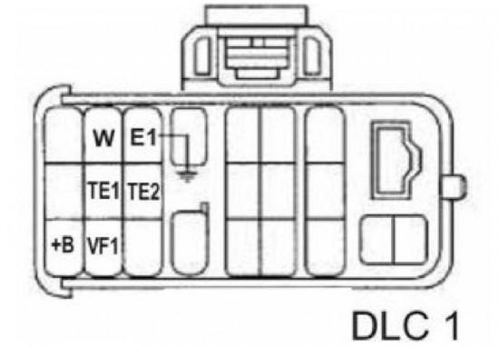 Схема маркировки выводов разъема DLC 1