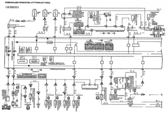 Схема включения индикаторов в электрическую цепь