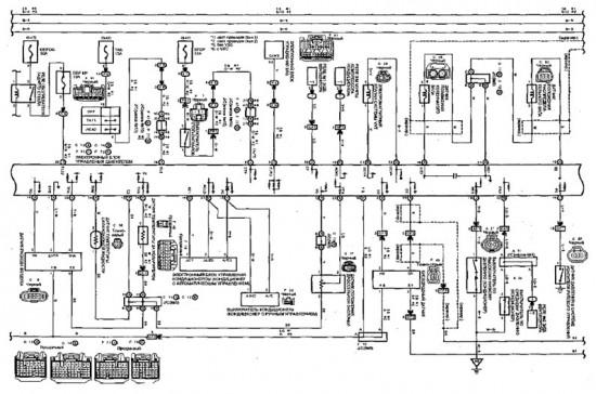 Схема электронного  управления двигателем