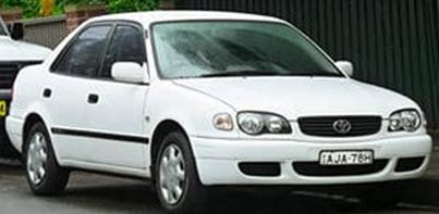 Toyota Corolla E110 после рестайлинга в 1999 году