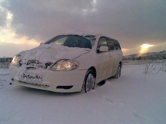 Тойота Королла модификации Филдер в зимних условиях