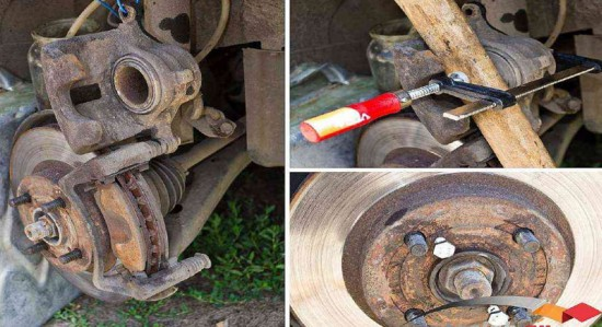 Замена дисков тормозов передних колёс Тойота Королла (E120)