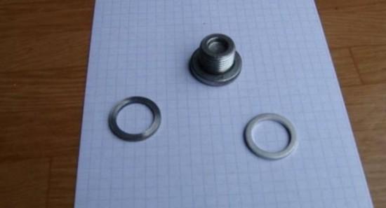 Замена кольца на сливной пробке