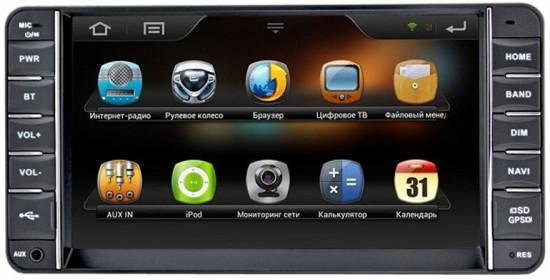 Пример штатной универсальной  автомагнитолы на системе Android 4.1 для Тoyota Сorolla