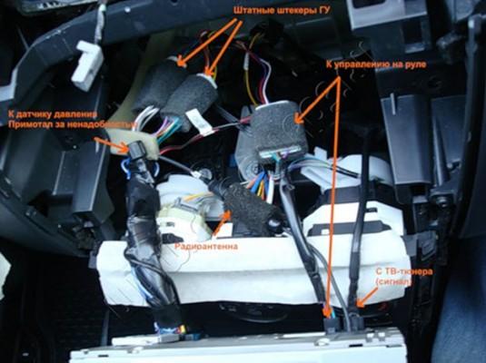 Подключаются все провода автомагнитолы