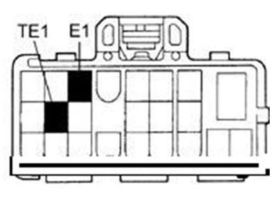 Схема расположения контактов ТЕ1 и Е1