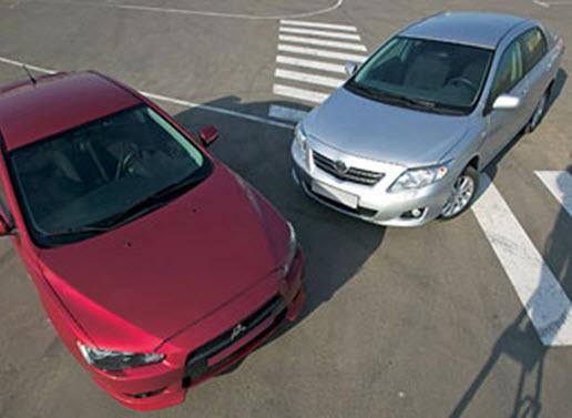 Toyota Corolla VS Mitsubishi Lancer