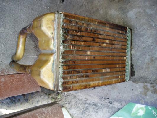 Старый радиатор печки