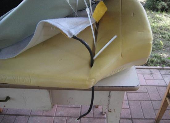 Установка и крепление обогревателя на поверхности дивана