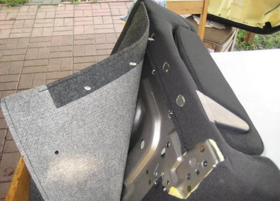 Спинка задних сидений