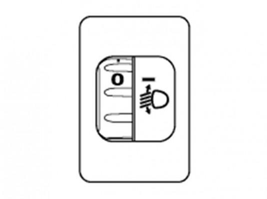 Регулятор освещения, выставленный в значение «0»