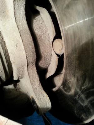 Обратный конец сломанной шпильки