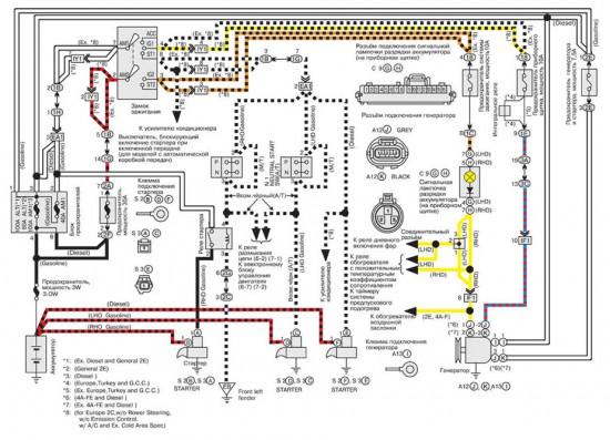 Электросхема зарядки автомобильного аккумулятора