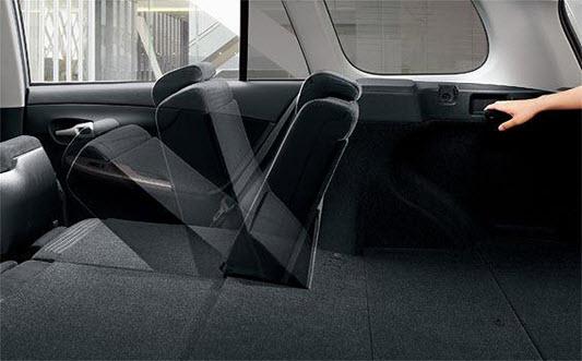 Складные задние сидения Тойота Королла Филдер 2008