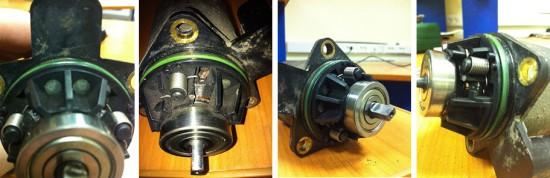 Электромотор актуатора сцепления с разных сторон