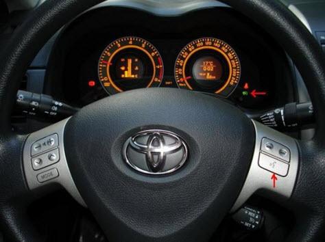Руль с установленными кнопками в собранном состоянии