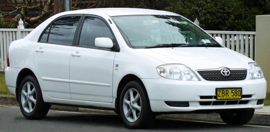 Toyota Corolla VVT-i 2001 модельного года