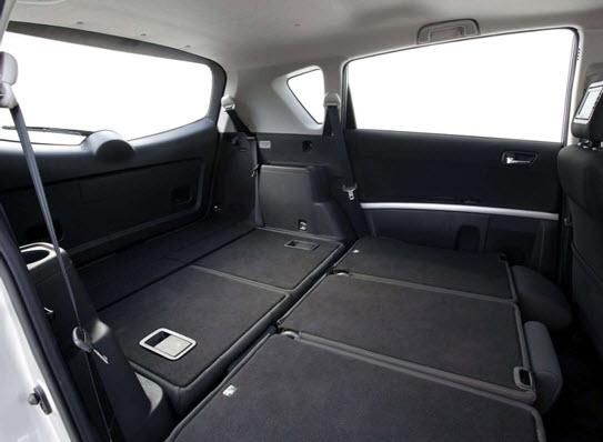 Багажное отделение со сложенными задними сидениями
