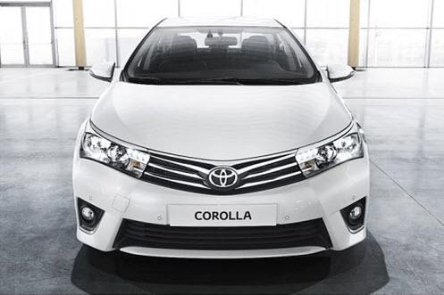 Toyota Corolla: вид спереди