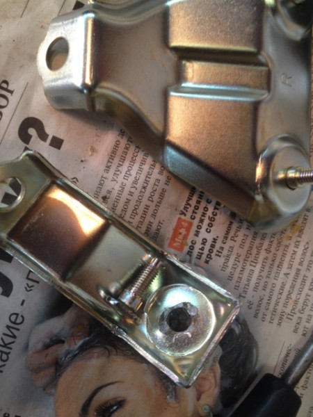Крепежный элемент с выбитой шпилькой
